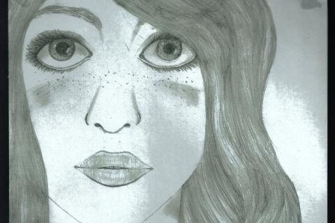 aisha_2014 - Portrait of Girl with Big Eyes - dark